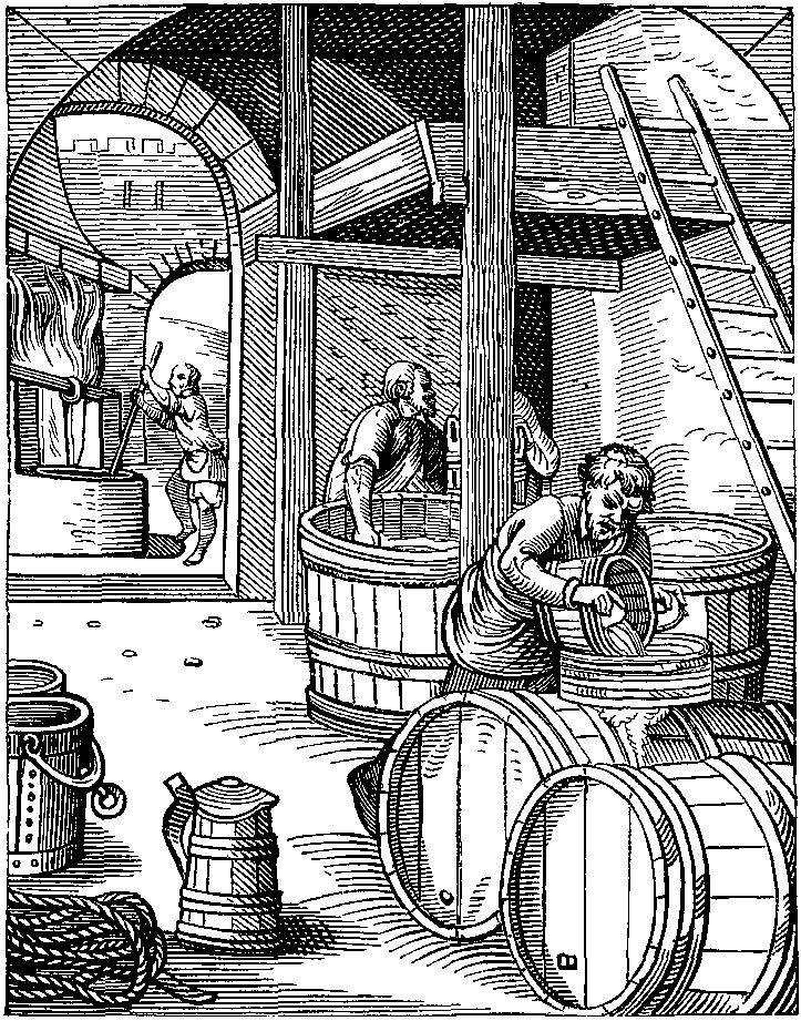Picture Of A 16th Century Brewery