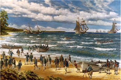 Picture Of Battle Of Nassau New Providence Raid 1776