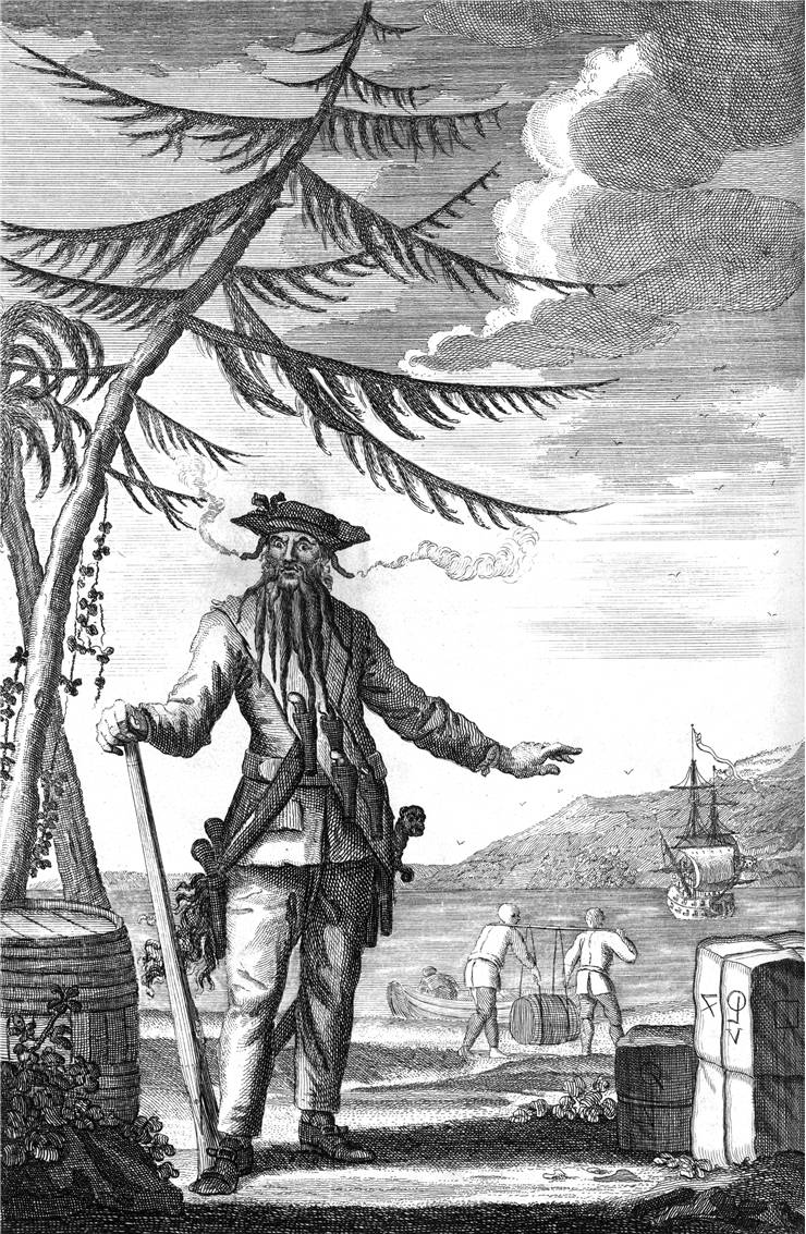 Picture Of Blackbeard Famous Pirate