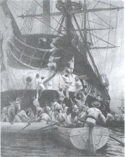 Picture Of Boarding Of Spanish Frigate Esmeralda 1820