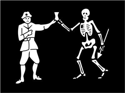 Picture Of Flag Of Pirate Bartholomew Roberts