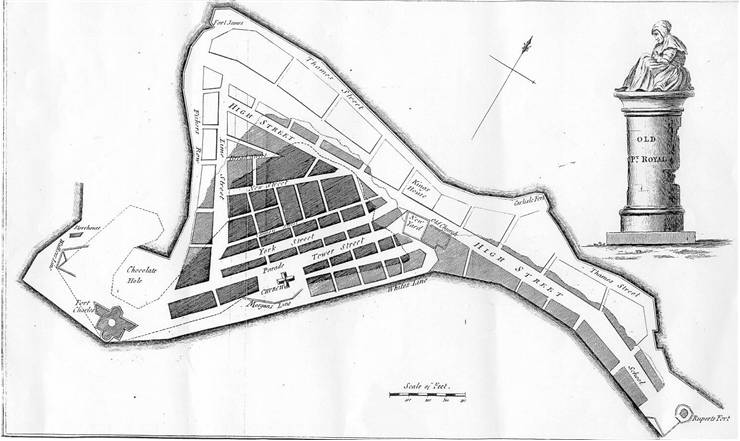 Picture Of Old Map Of Port Royal