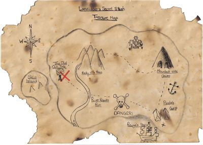 Picture Of Pirate Treasure Map