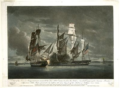 Picture Of Privateer Naval Battle Off Halifax