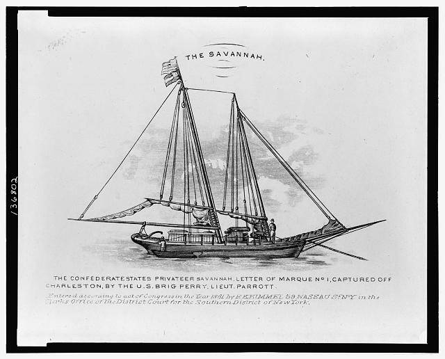 Picture Of Savannah A Confederate Privateer