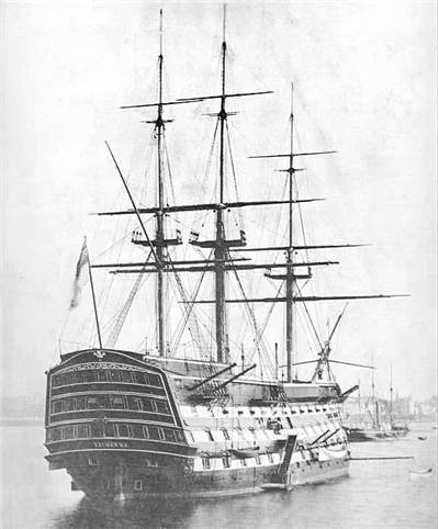 Picture Of Ship Of The Line HMS Victory