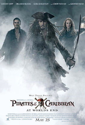 Theatrical Release Poster For Pirates Of The Caribbean At World's End