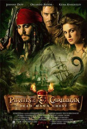 Theatrical Release Poster For Pirates Of The Caribbean Dead Man's Chest